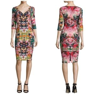 Black Halo Sherilyn Floral Sheath Dress